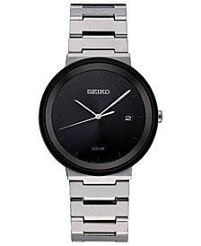 Seiko Men's Solar Essentials Stainless Steel Bracelet Watch 40mm