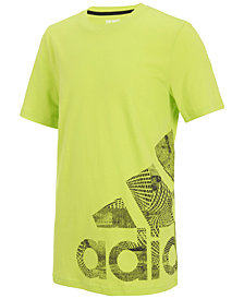 adidas Logo-Print Cotton T-Shirt, Big Boys