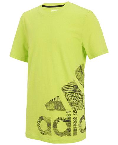 adidas Logo-Print Cotton T-Shirt, Little Boys