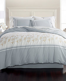 Martha Stewart Collection Embroidered Floral Reversible Cotton 8-Pc. King Comforter Set, Created for Macy's
