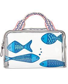 Vera Bradley Go Fish Beach Cosmetics Case