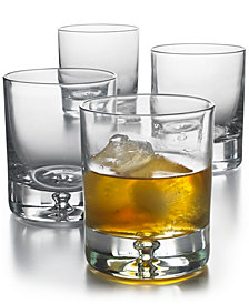 Hotel Collection Bubble Rocks Glasses, Set of 4, Created for Macy's