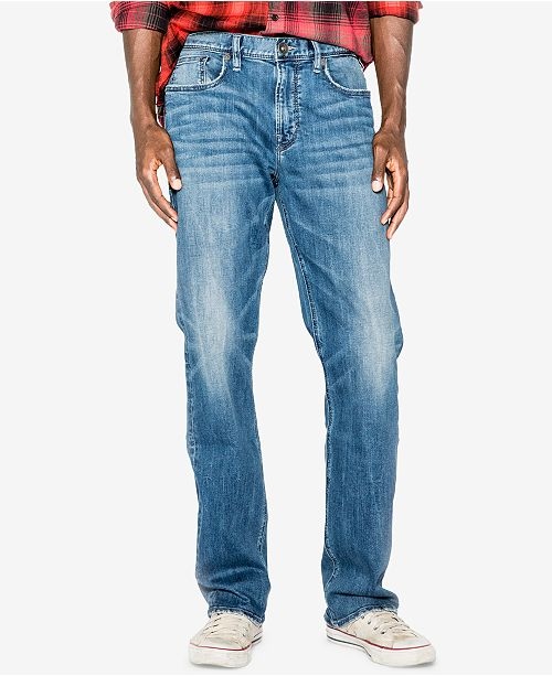 Silver Jeans Co. Men's Grayson Easy Straight Fit Stretch Jeans