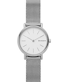 Skagen Women's Signature Stainless Steel Mesh Bracelet Watch 30mm