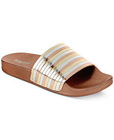 Kenneth Cole Reaction Women's Pool Pipes Pool Slides