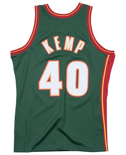 b561d2180 ... Mitchell   Ness Men s Shawn Kemp Seattle SuperSonics Hardwood Classic  Swingman ...