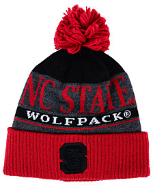 adidas North Carolina State Wolfpack Big Word Pom Knit