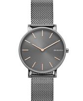 cee0843105ee Skagen Hagen Slim Dark Gray Stainless Steel Mesh Bracelet Watch 38mm