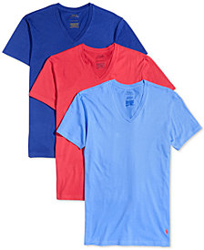 Polo Ralph Lauren Men's Classic Fit V-Neck T-Shirts, 3-Pack