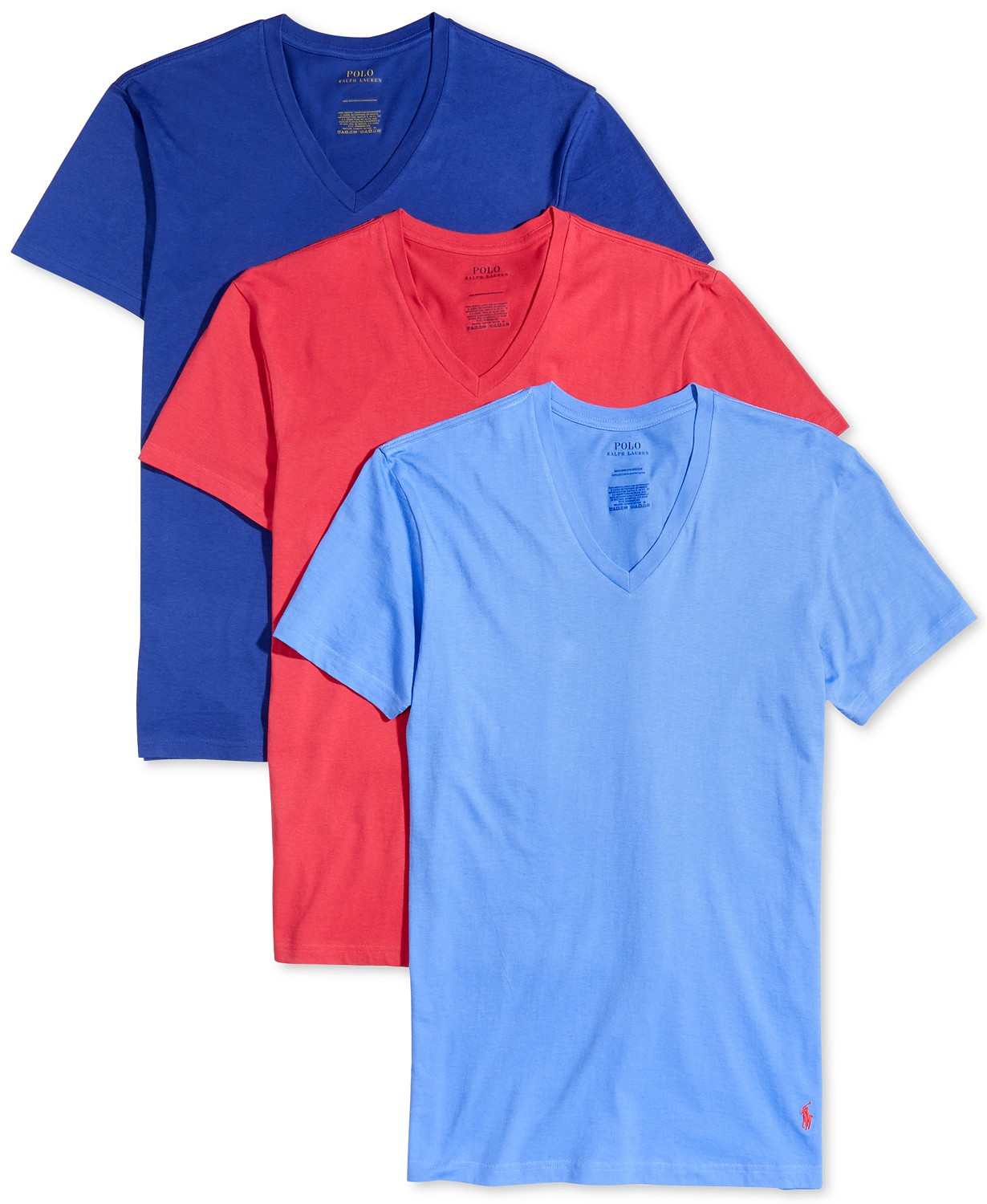 f195dc4a6 Polo Ralph Lauren Men's Classic Fit V-Neck T-Shirts, 3-Pack Only $17.77!