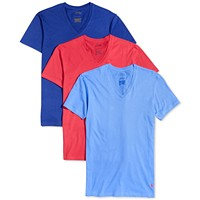 Deals on 3-Pack Polo Ralph Lauren Mens Classic Fit V-Neck T-Shirts