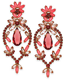 kate spade new york Gold-Tone Colored Stone Chandelier Earrings