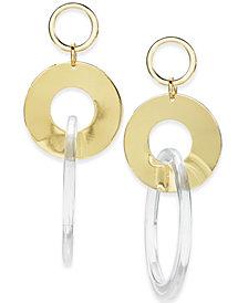 I.N.C. Gold-Tone Triple Ring Drop Earrings, Created for Macy's
