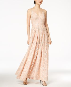 SEQUINED EMBROIDERED GOWN