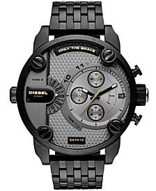 Men's Chronograph Little Daddy Black Stainless Steel Bracelet Watch 52mm