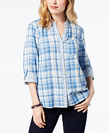Style & Co Cotton Printed Utility Shirt, Created for Macy's