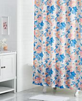 "Martha Stewart Collection Savannah Rose 72"" x 72"" Floral-Print Shower Curtain, Created for Macy's"