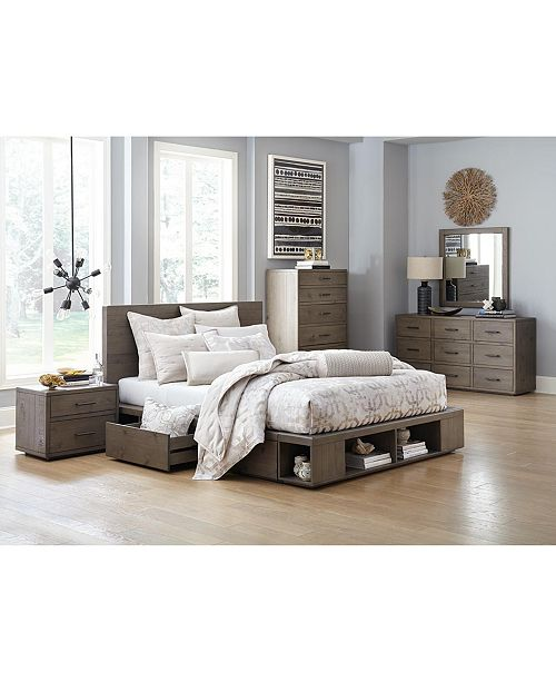 Furniture Brandon Storage Platform Bedroom Furniture Collection ...