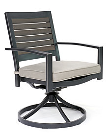 Marlough II Aluminum Outdoor Swivel Rocker with Sunbrella Cushion, Created for Macy's