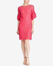 Lauren Ralph Lauren Lace Bell-Sleeve Dress, Regular & Petite Sizes