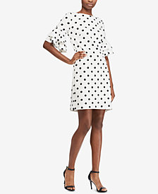 Lauren Ralph Lauren Polka-Dot Shift Dress, Regular & Petite Sizes