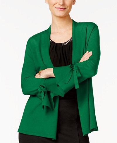 Alfani Petite Tie-Sleeve Cardigan, Created for Macy's
