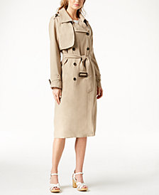 J.O.A. Double-Breasted Trench Coat
