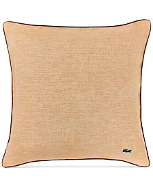 "Lacoste Home Linen 18"" Square Decorative Pillow"