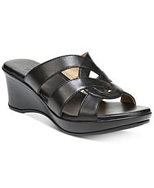 Violet Wedge Sandals