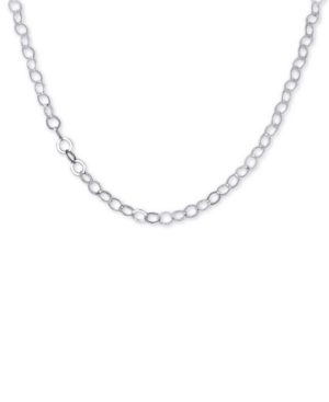 """Giani Bernini 20"""" Circle Loop Chain Necklace in Sterling Silver, Created for Macy's"""