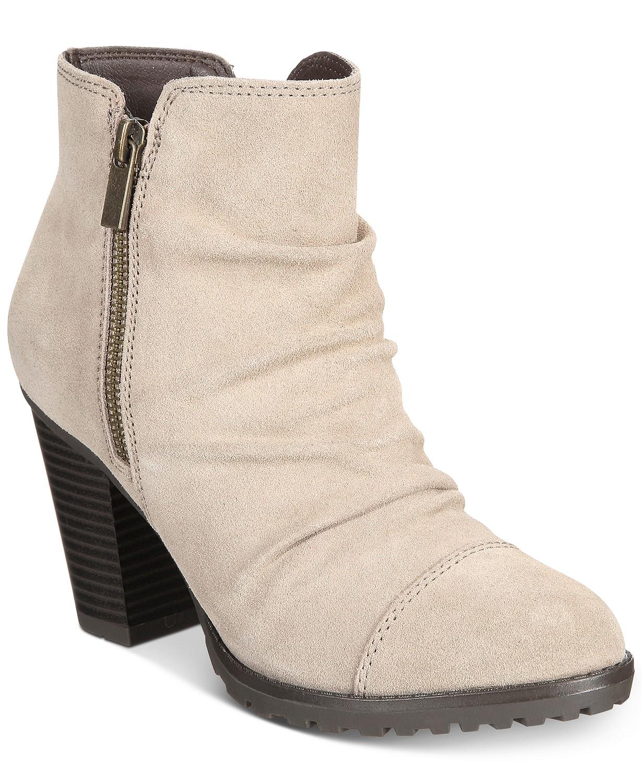 White Mountain Taft Block-Heel Booties