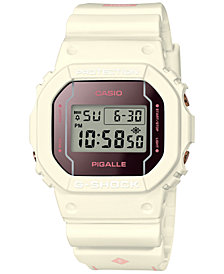 G-Shock Women's Digital Pigalle White Resin Strap Watch 42.8x42.8mm - Limited Edition