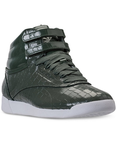 Reebok Women's Freestyle High Top Crackle Casual Sneakers from Finish Line