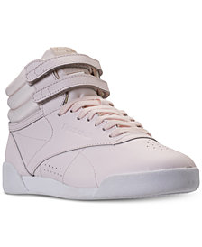 Reebok Big Girls' Freestyle High Top Muted Casual Sneakers from Finish Line