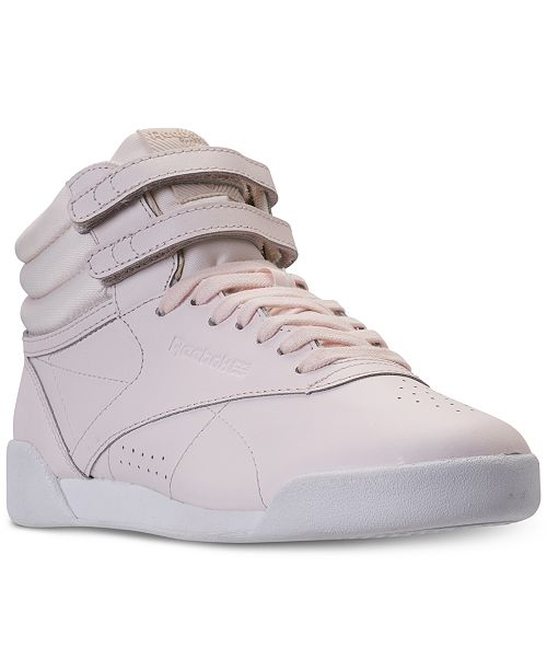 1a1f3349186d2 ... Reebok Big Girls  Freestyle High Top Muted Casual Sneakers from Finish  ...