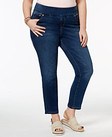 Tommy Hilfiger Plus Size Pull-On Slim-Leg Jeans, Created for Macy's