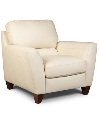 almafi leather living room chair id