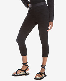 Max Studio London Textured Banded-Waist Pants, Created for Macy's
