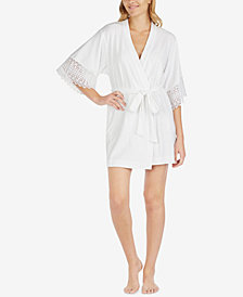 "Blue by Betsey Johnson ""Mrs."" Sheer Lace Robe"
