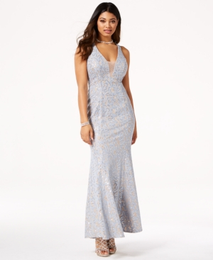 Jump Juniors Sequined Lace OpenBack Gown