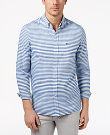 Lacoste Men's Gingham Check Oxford Shirt
