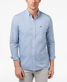 Lacoste Men's Gingham Oxford Shirt