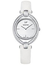 Swarovski Women's Swiss Stella Leather Strap Watch 29x35mm