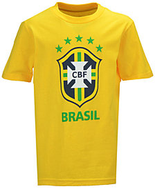 Outerstuff Brazil National Team Crest T-Shirt, Big Boys (8-20)