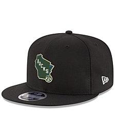 New Era Boys' Milwaukee Bucks Basic Link 9FIFTY Snapback Cap