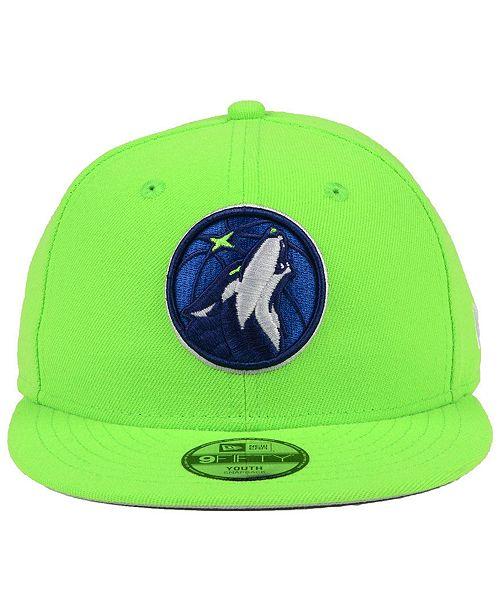 01856a71c45 New Era Boys  Minnesota Timberwolves Basic Link 9FIFTY Snapback Cap -  Sports Fan Shop By Lids - Men - Macy s