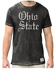 Retro Brand Men's Ohio State Buckeyes Logo Script Oil Wash T-shirt