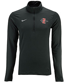 Nike Men's San Diego State Aztecs Heather Dri-FIT Element Quarter-Zip Pullover