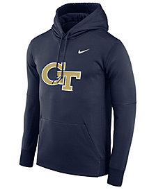 Nike Men's Georgia-Tech Therma Logo Hoodie