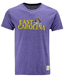 Retro Brand Men's East Carolina Pirates Retro Mock Twist Team Logo T-Shirt